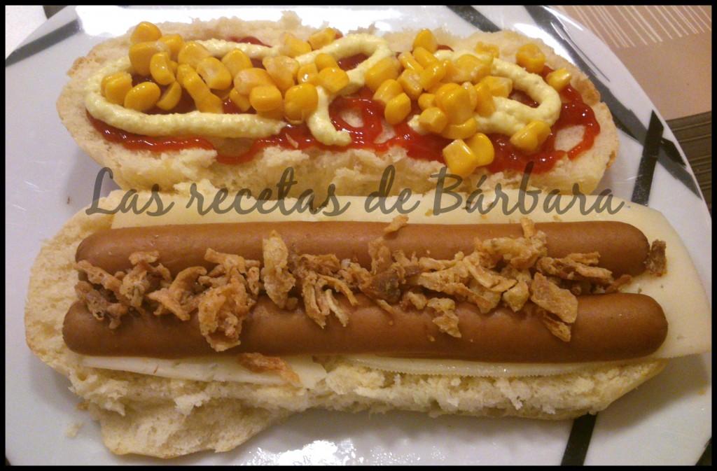 pan de hot dog abierto