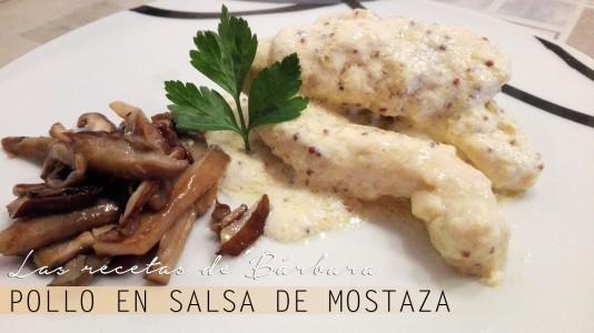 pollo en salsa de mostaza antigua