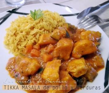 tikka masala de pollo y verduras simplificado