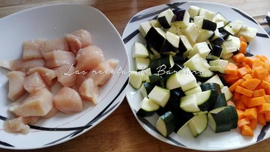 tikka masala de pollo y verduras1