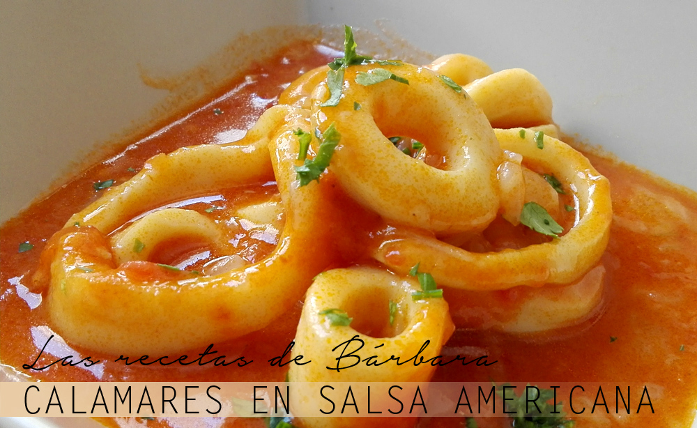 anillas de calamar en salsa americana